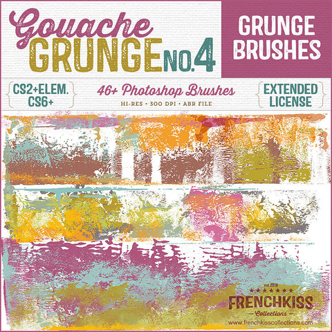 Gouache Grunge No 4 Photoshop brushes