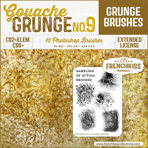 Gouache Grunge No. 9 Photoshop Brushes