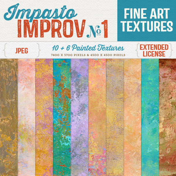 Impasto Improv No.1 painted commercial use textures.