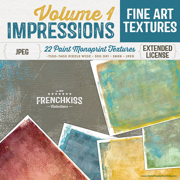 Fine art texture collection made from original paint monotype prints.