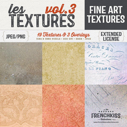 Les Textures Volume 3 fine art and grunge texture collection.