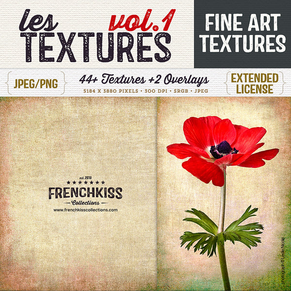 Les Textures Volume 1 fine art and grunge texture collection.