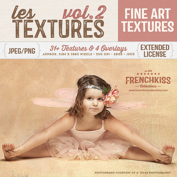 Les Textures Volume 2 fine art and grunge texture collection.