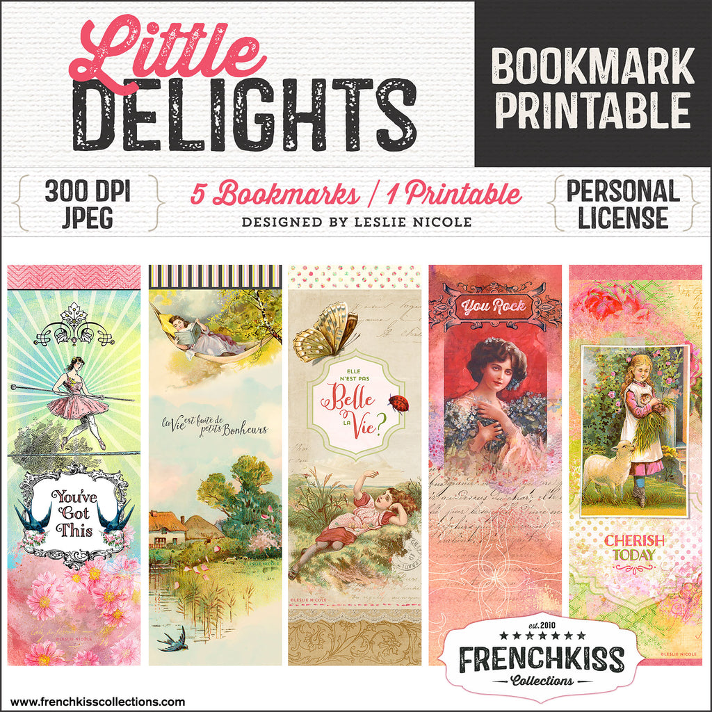 picture about Bookmarks Printable known as Small Delights Bookmarks Printable