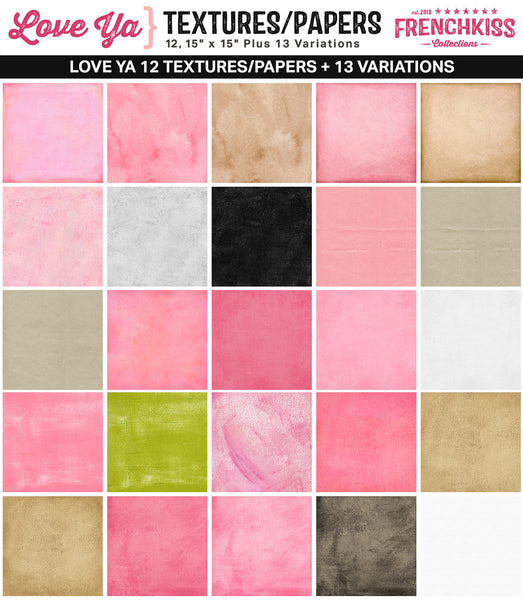 Love Ya Digital Textures and Papers for backgrounds, photography, scrapbooking, and design all.
