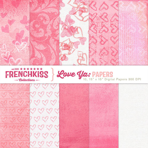 Love Ya Digital Papers