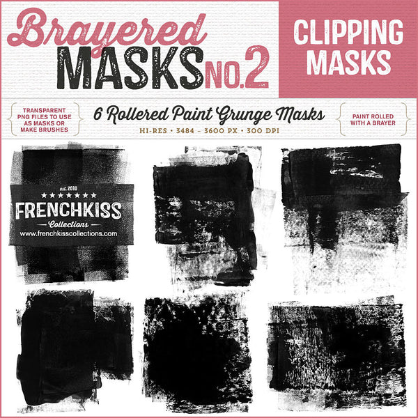 French Kiss Brayered Paint Overlay Masks