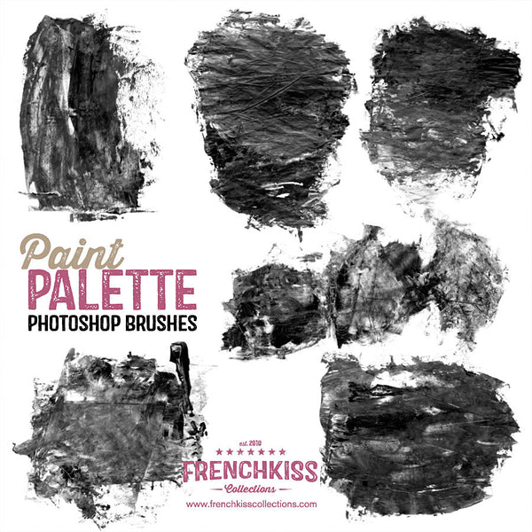 French Kiss Collections Paint Palette Photoshop brushes demo..