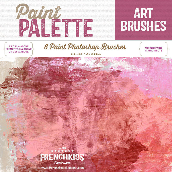 French Kiss Collections Paint Palette Photoshop brushes.