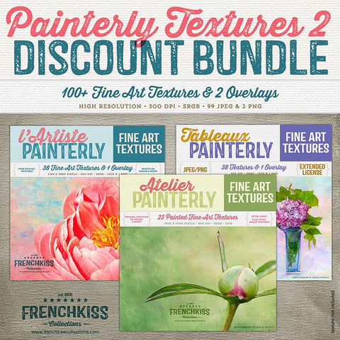 Gorgeous, original, fine art painted texture collection discounted bundle.