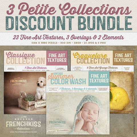 23 fine art petite texture collections combined in a discounted bundle.