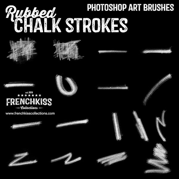 Rubbed Chalk Strokes Brushes