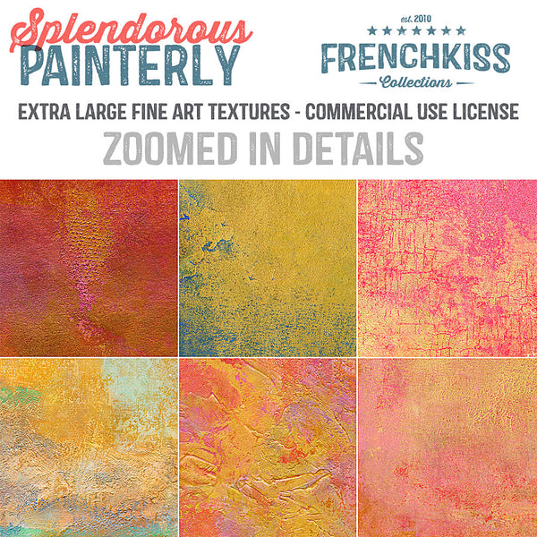 Zoomed in details from the Splendorous Painterly fine art commercial use texture collection.