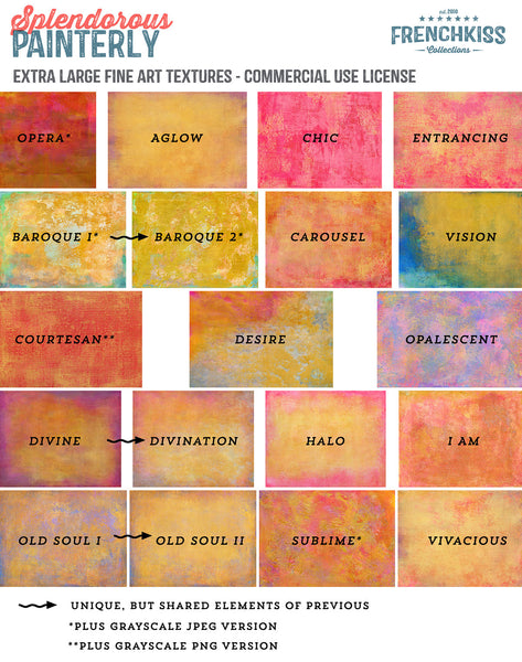 Splendorous Painterly commercial use fine art Texture Collection.