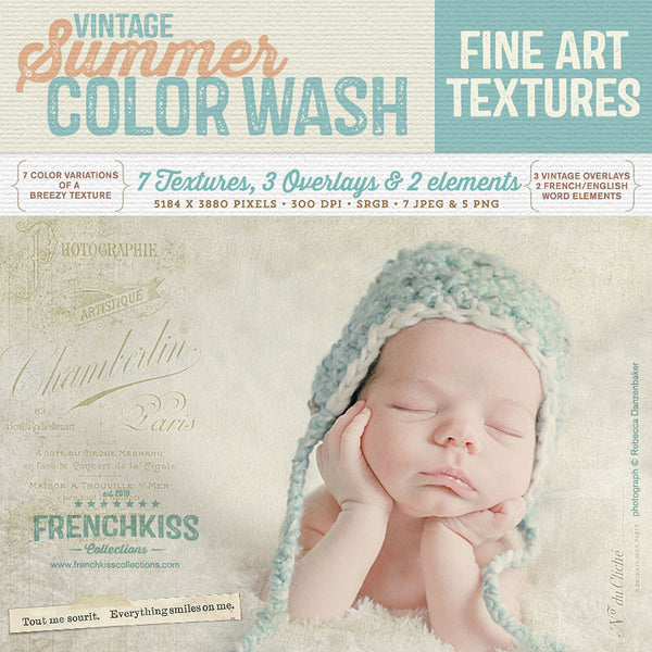 Vintage Summer Color Wash fine art texture collection. Commercial license.