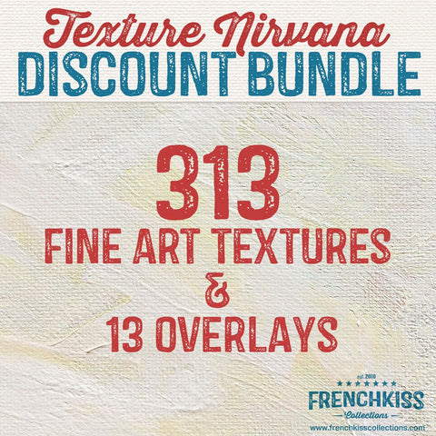 Texture Nirvana: 313 fine art textures and 10 Overlays. Discounted bundle.