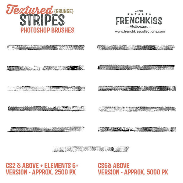 Textured Grunge Stripes Photoshop brushes-all.