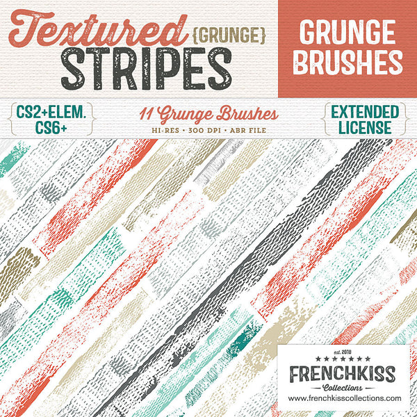Textured Grunge Stripes Photoshop brushes.