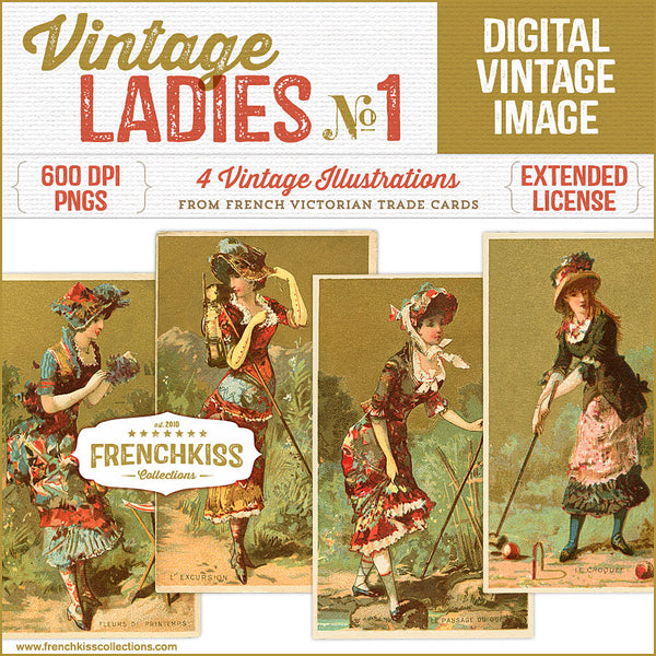 Vintage Ladies No. 1 Digital Illustrations