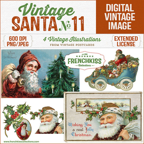 Vintage Santa No. 11 Illustration Graphics