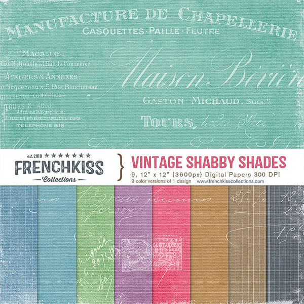 Vintage Shabby Shades Digital Papers