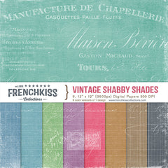 Vintage Shabby Shades digital paper pack