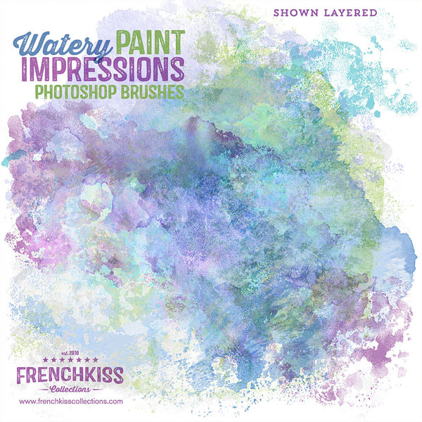 Watery Paint Impressions Photoshop Brushes example