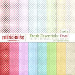French Kiss Collections Fresh Essentials: Dots digital papers.