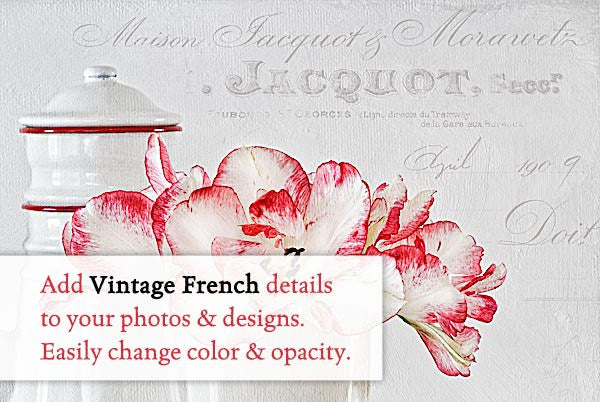 Le Marché Vintage French Overlays