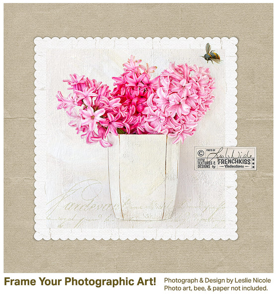 Fine art textured floral by Leslie Nicole using the Love Ya digital frames.