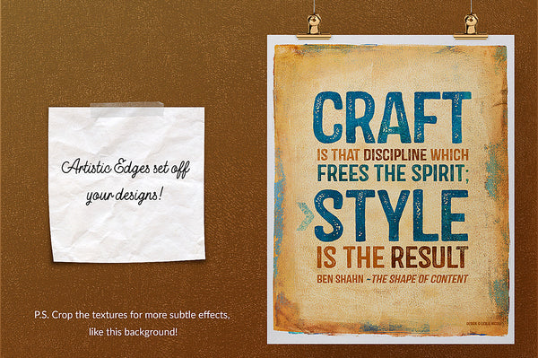 Quote poster design idea using a texture from the Paint Impressions V.3 collection.