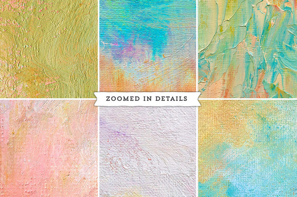Zoomed in details of the Tableaux painted texture collection.