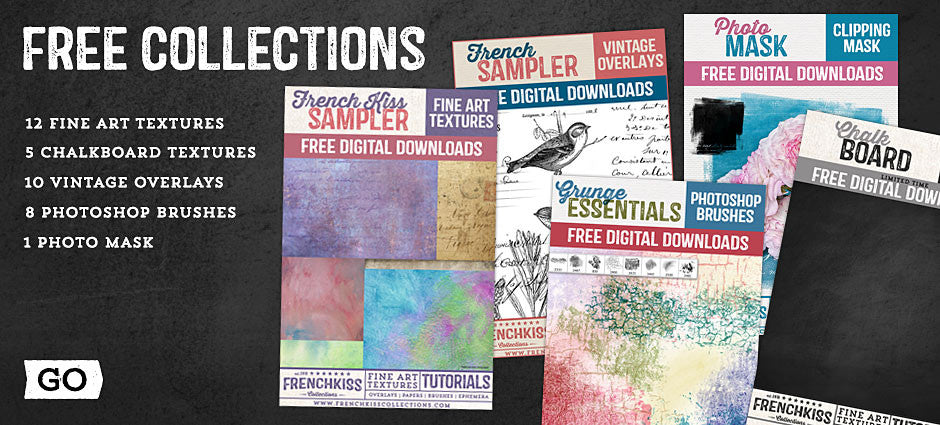 Free downloads for textures, overlays and brushes