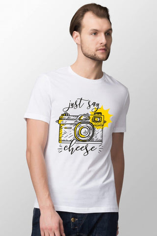 Just Say Cheese White T-Shirt
