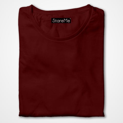 Men's Plain T-shirts | Maroon