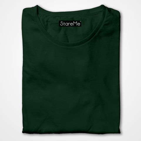 Men's Plain T-shirts | Bottle Green