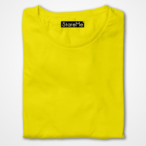 Men's Plain T-shirts | Yellow