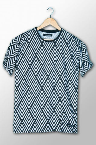 Abstract Allover Print T-Shirt for Men