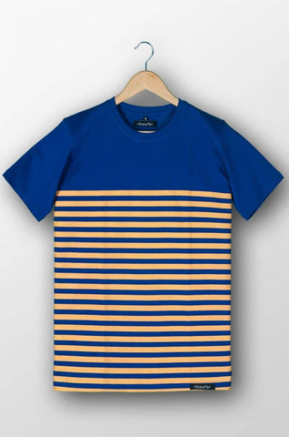Royle Blue Striped T-Shirt for Men