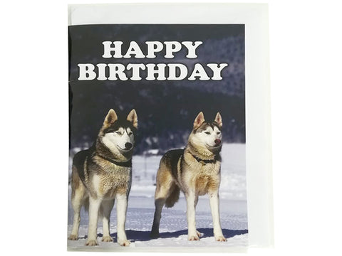 Birthday Card Collection - No. 38 Siberian Huskies