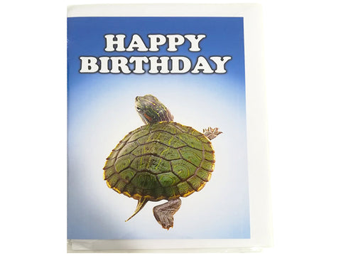Birthday Card Collection - No. 66 Red Eared Terrapin Fresh Water Turtle