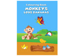 Monkeys - Love Bananas (Colouring Book)