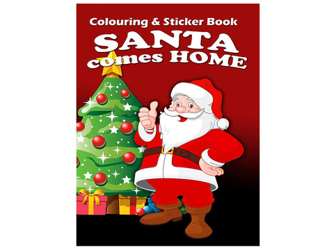 Santa Comes Home (Colouring and Sticker Book)