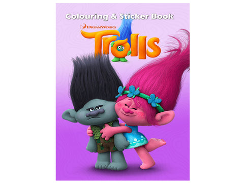 Trolls (Colouring and Sticker Book)