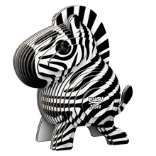 Load image into Gallery viewer, Eugy Zebra 3D Puzzle — Educational Toy for Boys and Girls, 28 PIece Puzzle
