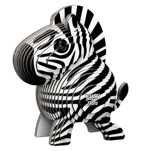 Eugy Zebra 3D Puzzle — Educational Toy for Boys and Girls, 28 PIece Puzzle