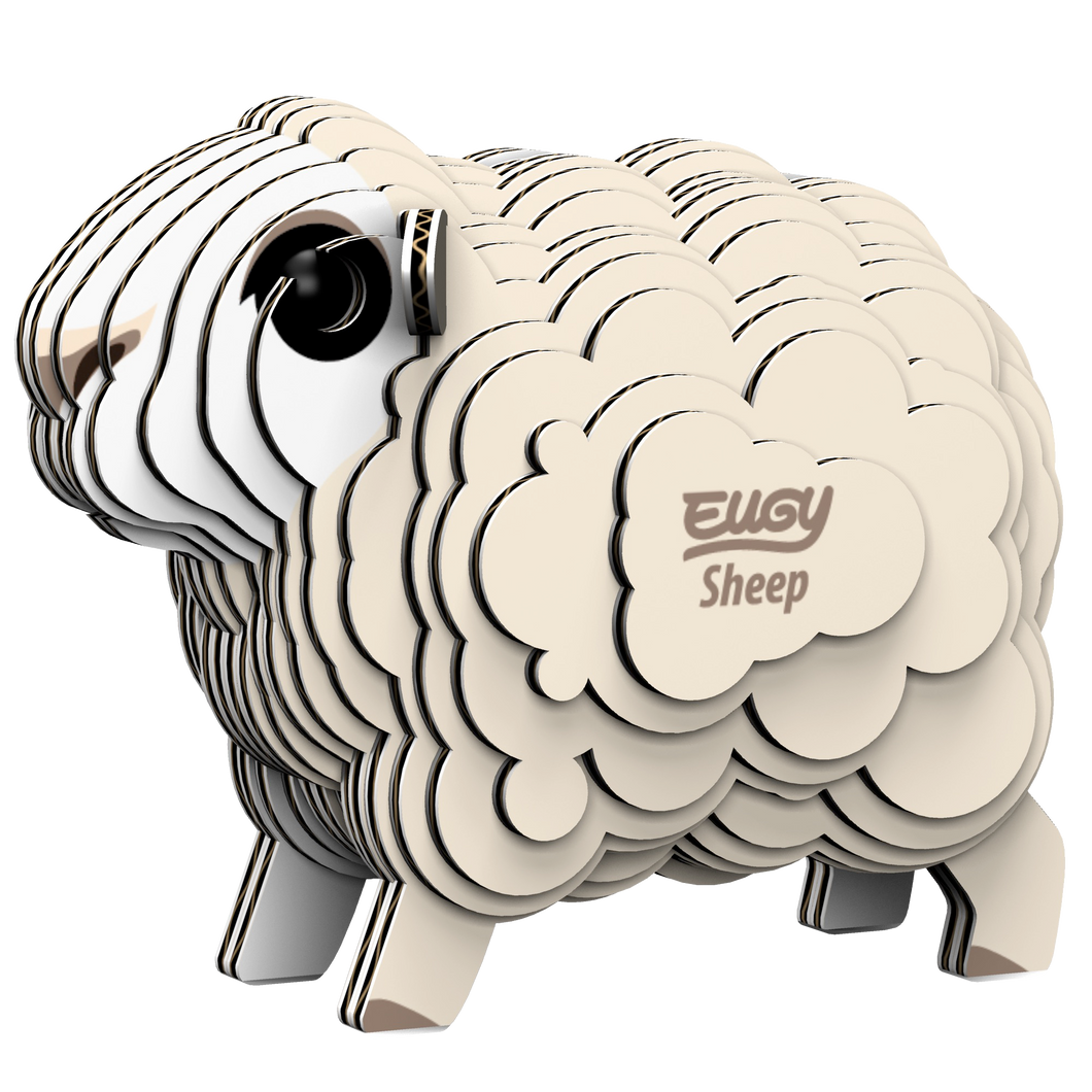 Eugy Sheep 3D Puzzle — Educational Toy for Boys and Girls, 28 PIece Puzzle