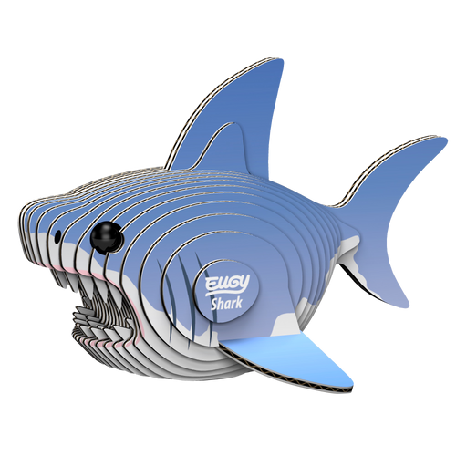 Eugy Shark 3D Puzzle — Educational Toy for Boys and Girls, 28 PIece Puzzle