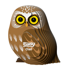 Load image into Gallery viewer, Eugy Owl 3D Puzzle — Educational Toy for Boys and Girls, 28 PIece Puzzle