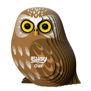Eugy Owl 3D Puzzle — Educational Toy for Boys and Girls, 28 PIece Puzzle